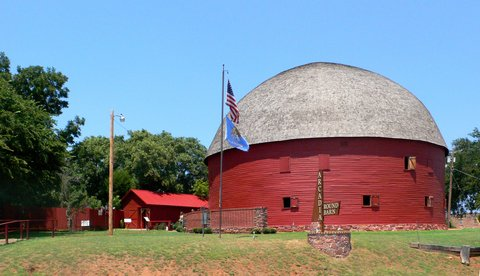 "La ""Round Barn"" d'Arcadia (photo CC Flickr/cmiked)"