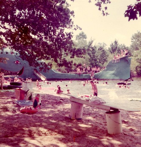 """La """"Blue Whale"""" de Catoosa dans les années 1970 (photo © www.bluewhaleroute66.com)"""