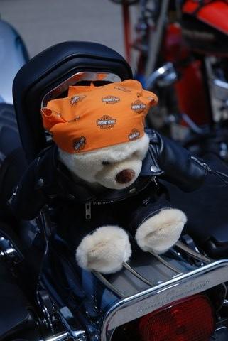 Détail d'une Harley-Davidson.