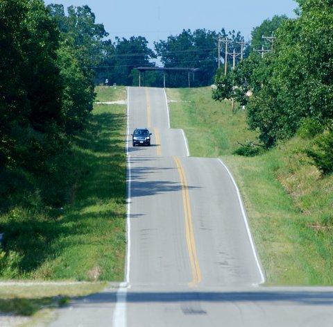La Route 66 près de Lebanon, Missouri.