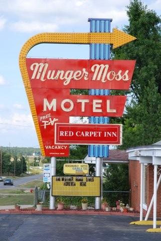 L'enseigne du Munger Moss Motel.