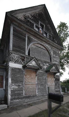 Une maison abandonnée à Galena, KS.