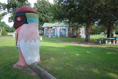 Le Totem pole park, près de Foyil.