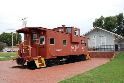 L'ancienne gare de Catoosa accueille désormais un petit musée.