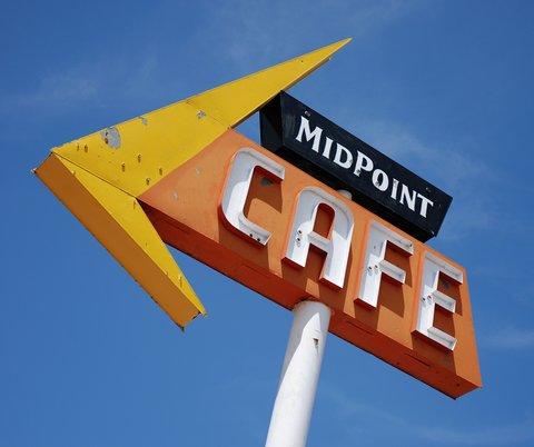 Le MidPoint Café à Adrian, TX.