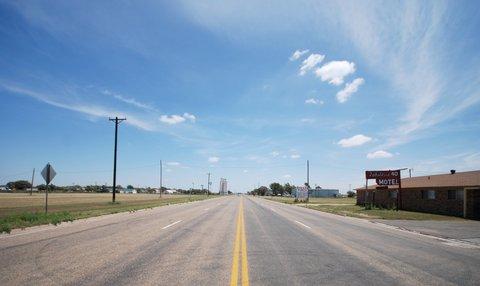 La Route 66 à Adrian, TX.