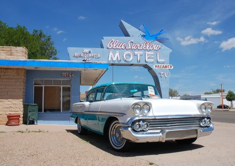 Le Blue Swallow Motel de Tucumcari, NM.