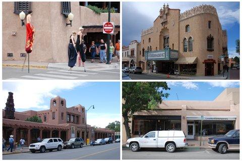 Santa Fe la culturelle : artistes de rue, théâtres, musées, galeries d'art.