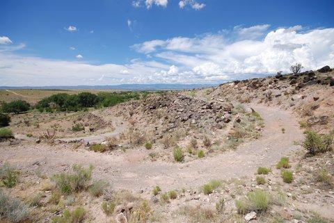 La route de la Bajada Hill
