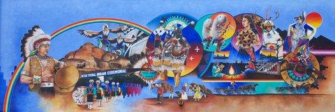 Chaque année se tiennent à Gallup les cérémonies intertribales indiennes.