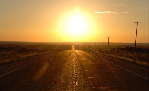 La route vers Holbrook, AZ.