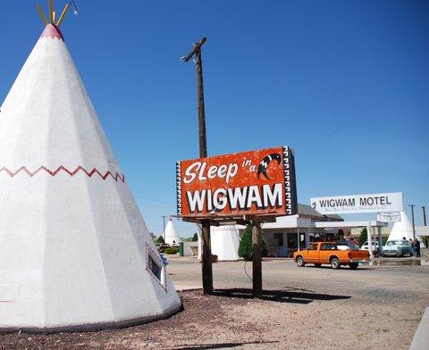 Le Wigwam Motel de Holbrook.
