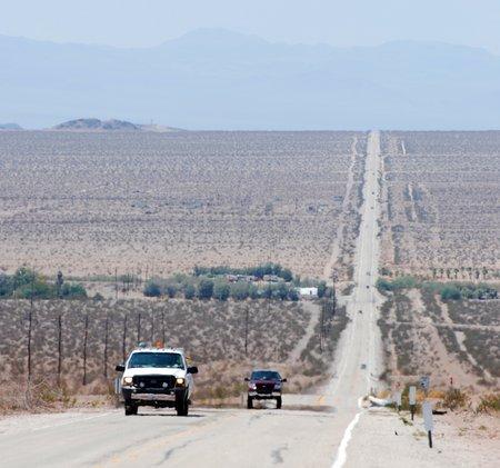 La Route 66 dans le désert Mojave.
