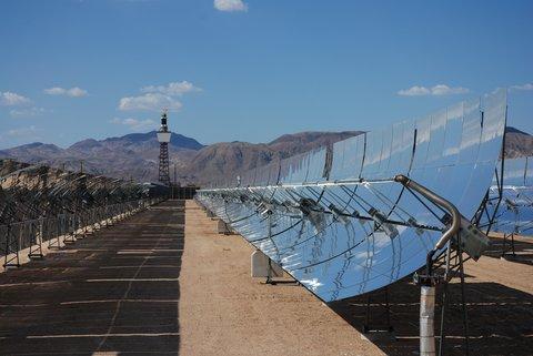 Une centrale solaire près de Barstow.