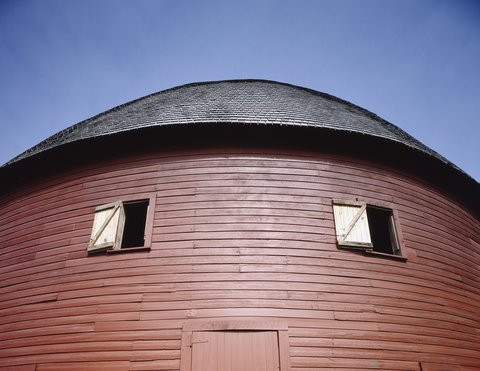 "La ""Round Barn"" d'Arcadia (photo Carol Highsmith/Library of Congress)"