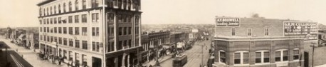Tulsa en 1909 (dtail d&#039;une photo de Clarence Jack, Library of Congress)