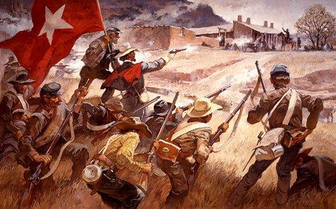 La bataille de Glorieta Pass, peinture de Roy Andersen © NPS