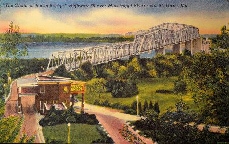 Carte postale d'époque, lorsque le pont était encore à péage.