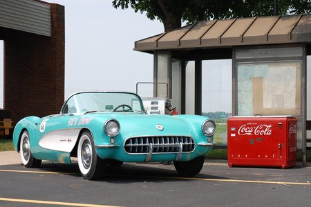 Une belle Chevrolet Corvette au Dream Car Museum