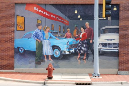 Une peinture murale à Joliet.