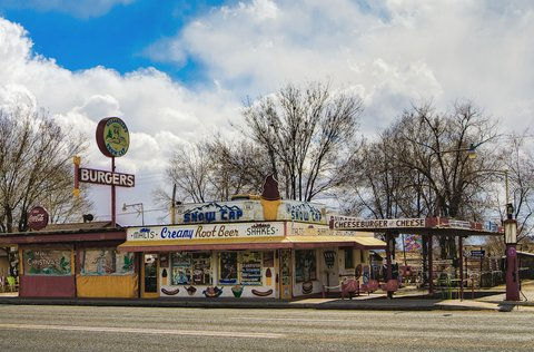 Le Snow Cap Drive-in de Seligman (photo CC Flickr/Brett Kiger)
