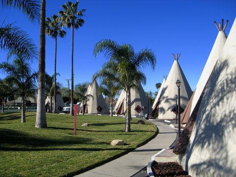 Le Wigwam Motel de Rialto/San Bernardino (photo CC Flickr/Mike Souza)
