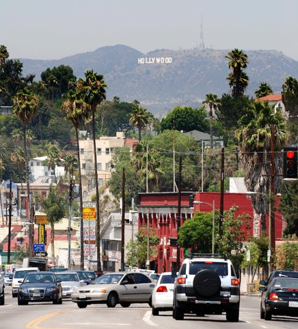 Le panneau Hollywood sur Sunset Blvd.