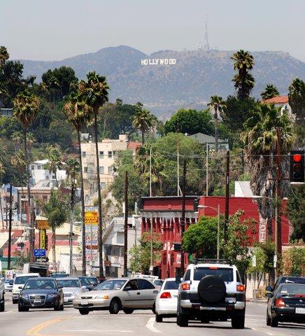 Le panneau Hollywood sur Sunset Blvd.