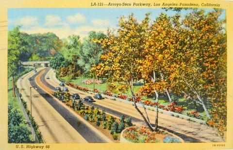 Carte postale de l'Arroyo Seco Pkwy