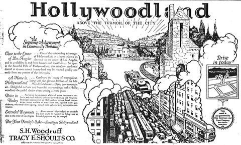 Prospectus pour le lotissement Hollywoodland (1924)