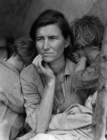 """Migrant Mother"", légendaire photo de Dorothea Lange (1936)"
