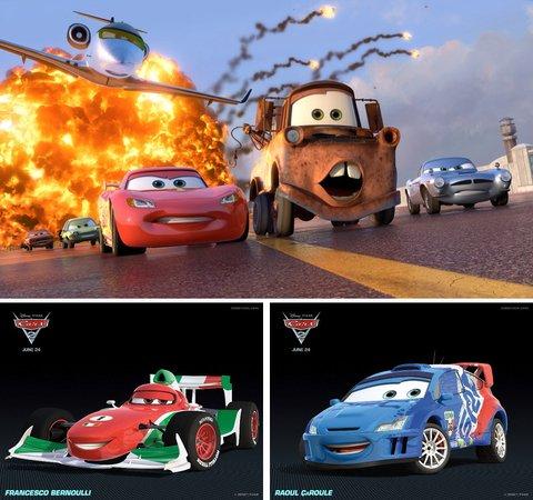 Flash McQueen, Martin, Francesco Bernoulli et RaoulÇaRoule !